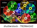 cover for cd.  musical box the... | Shutterstock . vector #782866162