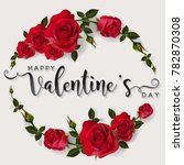 Stock vector valentine s day greeting card templates with realistic of beautiful rose and heart on background 782870308