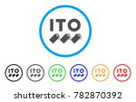 ito tokens rounded icon. style...   Shutterstock .eps vector #782870392