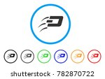 send dash rounded icon. style... | Shutterstock .eps vector #782870722