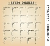 vintage old fashioned corners ... | Shutterstock .eps vector #782875126