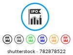 ipo chart rounded icon. style... | Shutterstock .eps vector #782878522