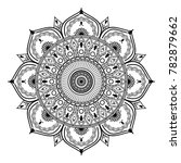 vector henna mandalas style...   Shutterstock .eps vector #782879662