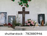 in a christian french chapel... | Shutterstock . vector #782880946