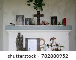in a christian french chapel... | Shutterstock . vector #782880952