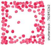 rose petals border valentines... | Shutterstock .eps vector #782892262