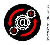 the symbol translator  online...   Shutterstock .eps vector #782893132
