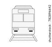train frowntview symbol | Shutterstock .eps vector #782896642