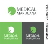 medical marijuana logo and icon ... | Shutterstock .eps vector #782897266