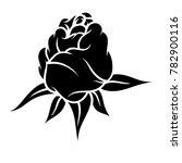 flower rose  black and white.... | Shutterstock .eps vector #782900116