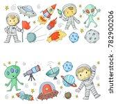 moon surface. kindergarten... | Shutterstock .eps vector #782900206