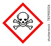 raster illustration ghs hazard...   Shutterstock . vector #782900326