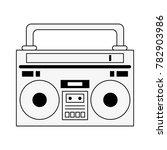 old radio stereo | Shutterstock .eps vector #782903986