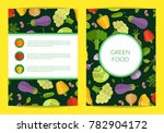 flat vegetables card  brochure ... | Shutterstock . vector #782904172