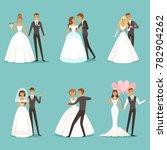 beautiful wedding couple... | Shutterstock . vector #782904262