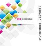 eps10 vector multicolor square... | Shutterstock .eps vector #78290557