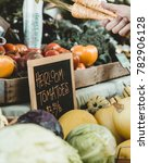 heirloom tomato stand | Shutterstock . vector #782906128