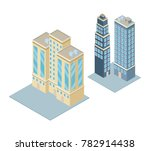 isometric city 3d | Shutterstock .eps vector #782914438