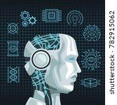 robot artificial intelligence   Shutterstock .eps vector #782915062