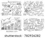 big set of business doodles...   Shutterstock .eps vector #782926282