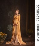 lovely young pregnant woman in