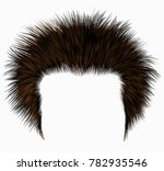 trendy shaggy man hairs black...