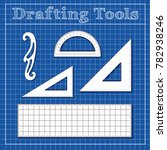 drafting tools for architecture ...   Shutterstock .eps vector #782938246