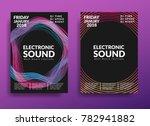 electronic music poster. modern ... | Shutterstock .eps vector #782941882
