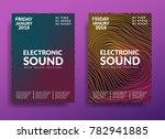 electronic music poster. modern ... | Shutterstock .eps vector #782941885