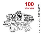 100 biggest countries word... | Shutterstock .eps vector #782948176