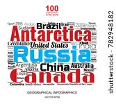 100 biggest countries word... | Shutterstock .eps vector #782948182