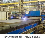 industrial plasma cutting of... | Shutterstock . vector #782951668