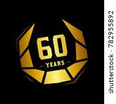60 years design template.... | Shutterstock .eps vector #782955892