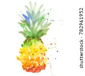 exotic pineapple healthy food... | Shutterstock . vector #782961952