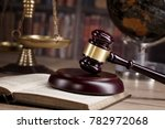 Judge S Gavel And Law Books...
