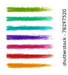 brush paint splashes set vector ... | Shutterstock .eps vector #78297520