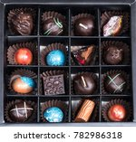 delicious chocolate box | Shutterstock . vector #782986318