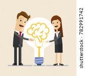 businessman and woman hugs a...   Shutterstock .eps vector #782991742