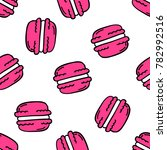 macaroon seamless doodle pattern | Shutterstock .eps vector #782992516
