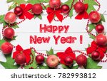 happy new year card  | Shutterstock . vector #782993812