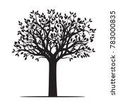 black shape of tree. vector... | Shutterstock .eps vector #783000835