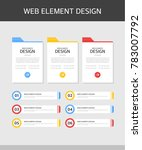 web elements design set | Shutterstock .eps vector #783007792