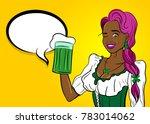 black star african wink girl.... | Shutterstock .eps vector #783014062