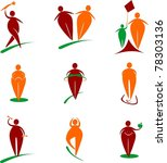 big people icons set   Shutterstock .eps vector #78303136
