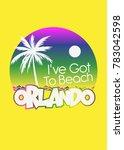 orlando summer palm tree... | Shutterstock .eps vector #783042598