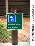 Small photo of A potable water sign in both english and french.