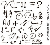 arrow doodles vector. a set of... | Shutterstock .eps vector #783057142