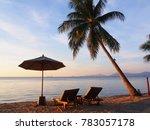 beautiful sunset over the sea ...   Shutterstock . vector #783057178
