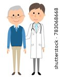 the male of the white coat... | Shutterstock .eps vector #783068668