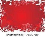 red valentine background  ... | Shutterstock .eps vector #7830709